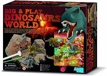4M 665926 - Juego de de Mesa sobre excavación de Dinosaurios (Contenido en inglés): Amazon.es: Juguetes y juegos
