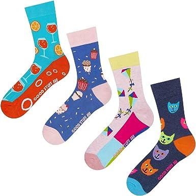 soxo Calcetines de Color para Mujer | Talla 35-40 | Paquete de 4 ...