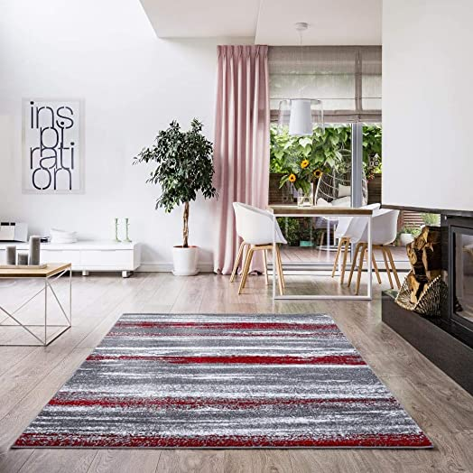 Luxe Weavers Victoria Abstract Red 8×10 Area Rug 9085