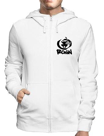 Sudadera con Capucha Zip Blanco FUN2578 Ninja Ronin: Amazon ...