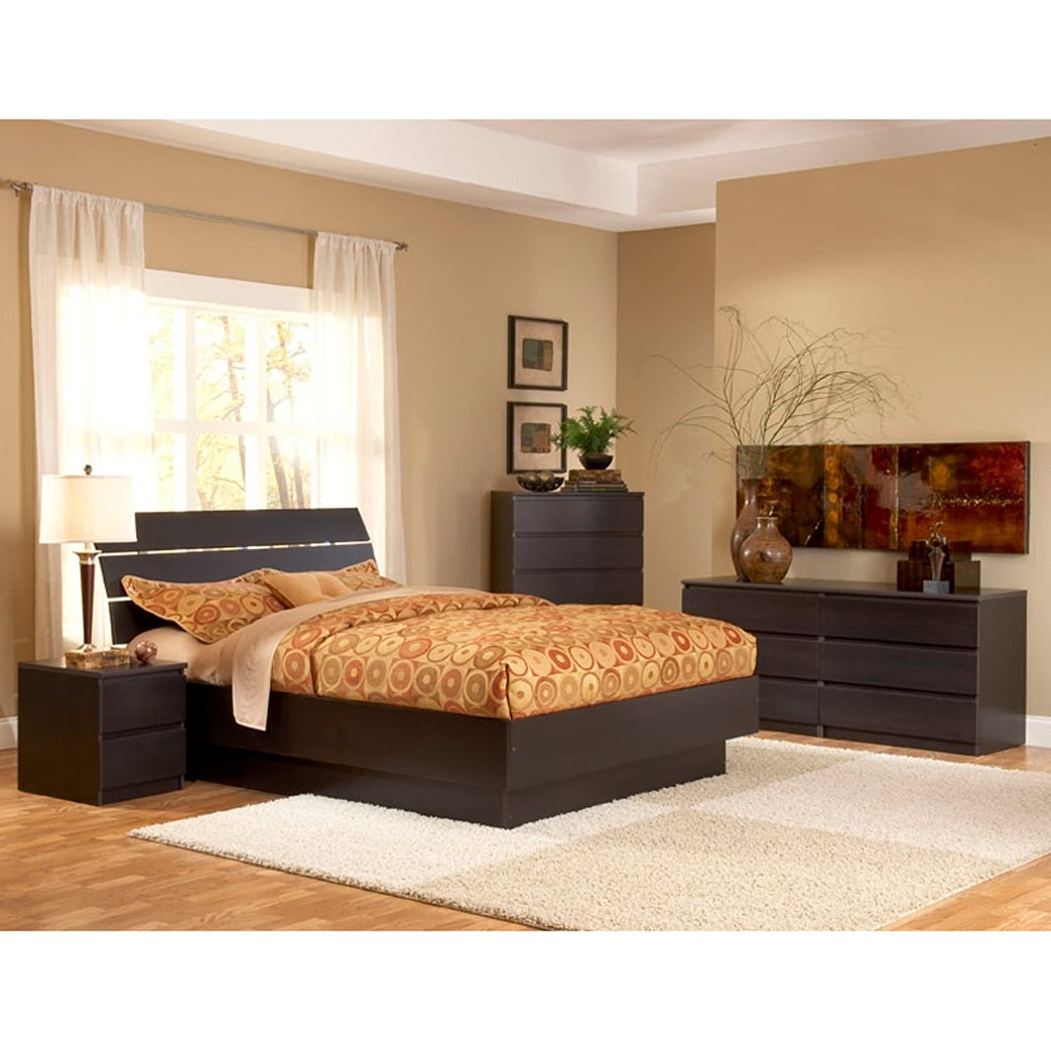 Amazon Tvilum Scottsdale Platform Bed in Coffee Queen