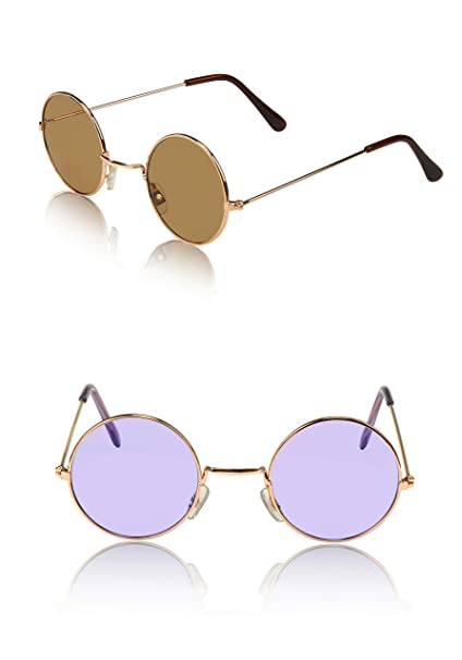 d93829d68ad7a Circular Sunglasses Gift for Kids Kid Janis Joplin 2 Pack Of Two 70 Purple  Brown