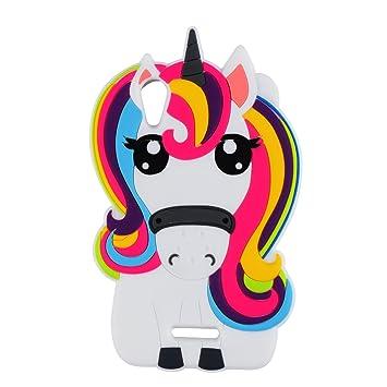 Licorne Unicorn Coque Pour Wiko Lenny 4 Housses De Téléphone Tpu Silicone Etui Mignon 3d Cartoon Dessin Animé Animaux Pink Fille Femmes Enfants Cute