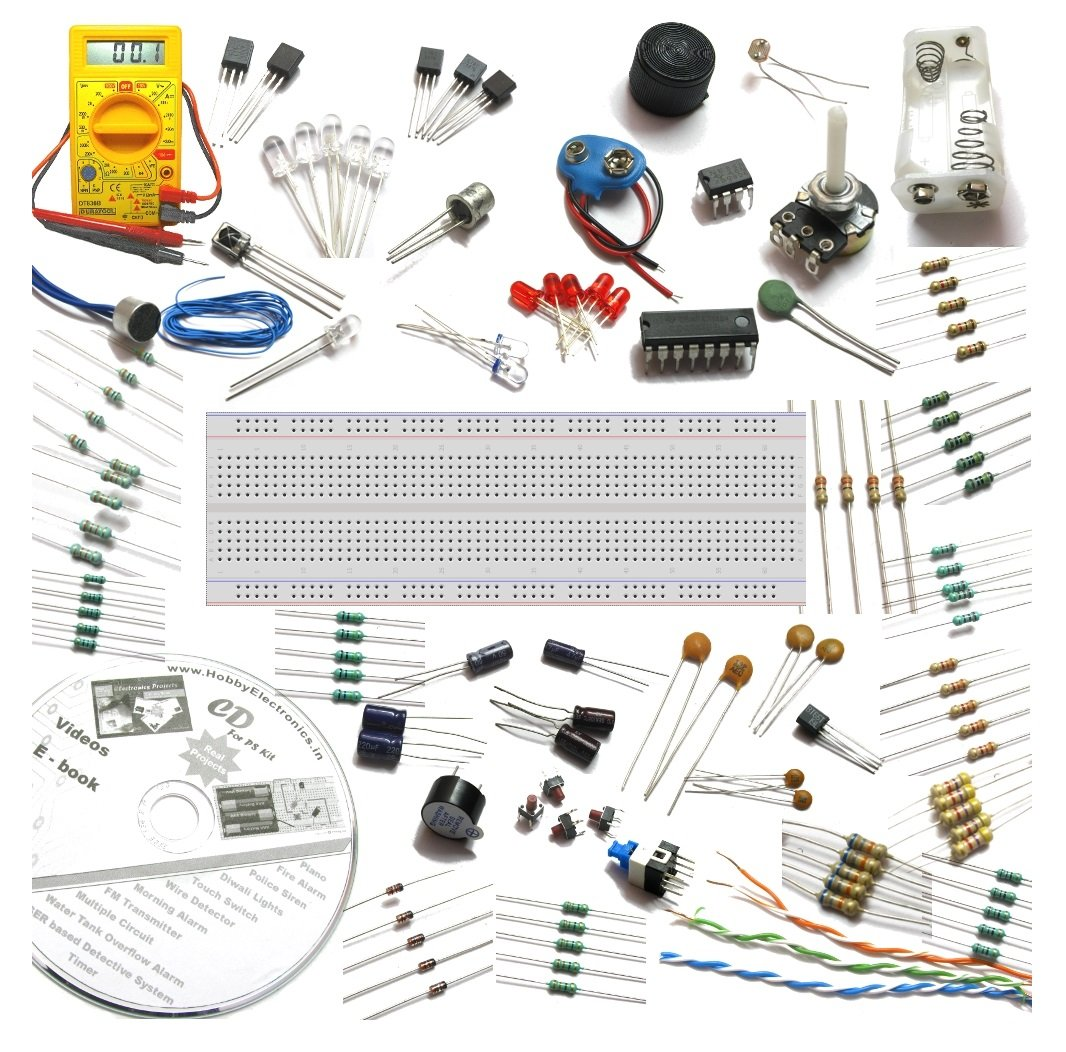 Buy Deepak Enterprise Electronics Project Spares With Multimeter Electronic Siren Circuit Diagram Breadboard 50 Circuits Cd Videosblack Online At Low Prices In India
