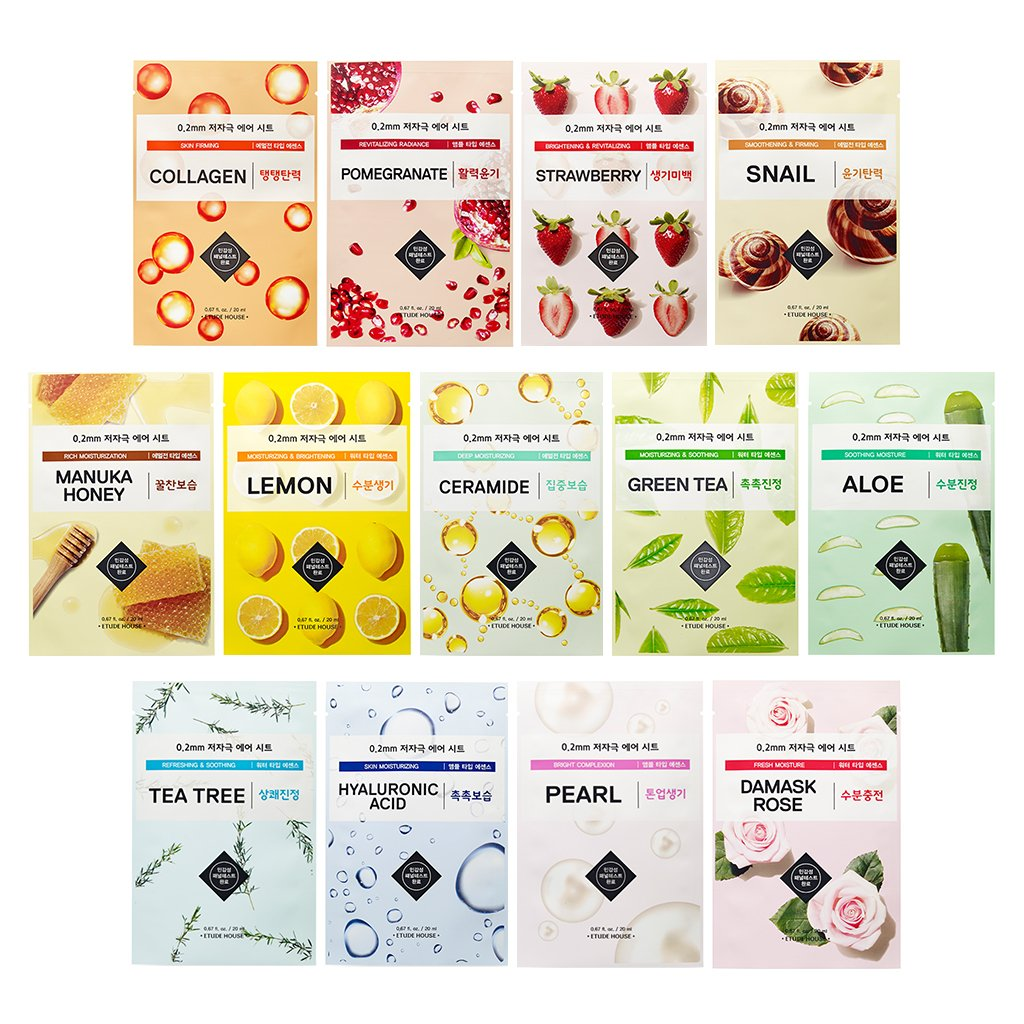 ETUDE HOUSE 0.2mm Air Mask 20ml Combo Pack (15 Pack)