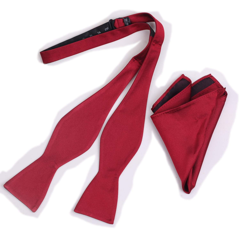 iHomor 100/% Silk Mens Bowtie Self Tie Bow Tie