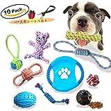 小さな中型大型のための10パックの子犬の噛んだ犬のロープのおもちゃの詰め合わせ
