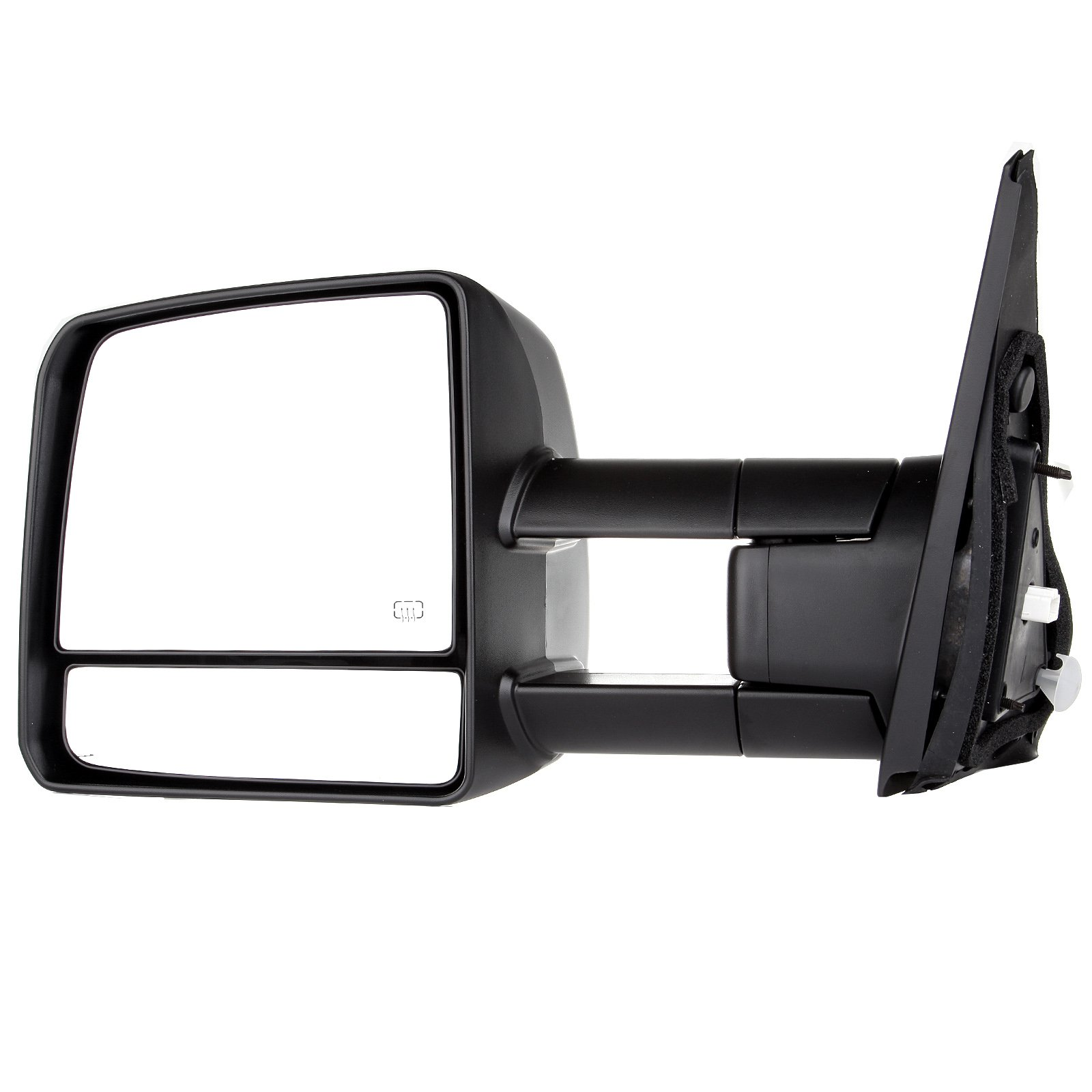 SCITOO fit Toyota Towing Mirrors Rear View Mirrors fit 2007-2016 Toyota Tundra Truck Larger Glass Power Control, Heated Turn Signal Manual Extending Folding (black) by SCITOO (Image #2)