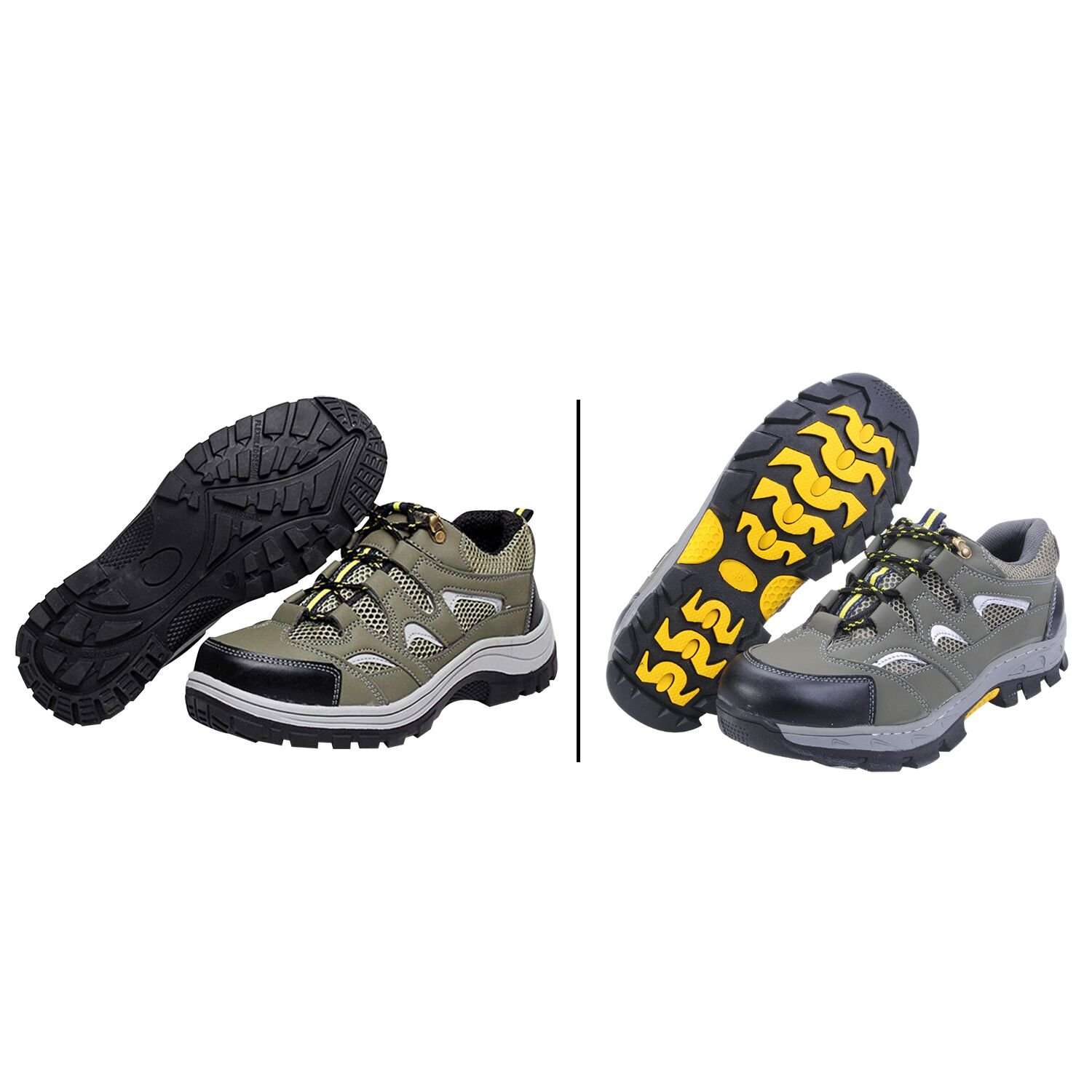 Men's Safety Shoes Work Shoes Comp Steel Toe Green EU46 US10.5