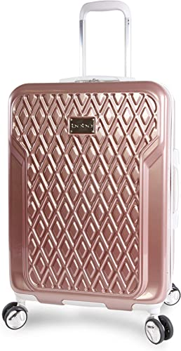 BEBE Women s Stella 21 Hardside Carry-on Spinner Luggage, Rose Gold, One Size