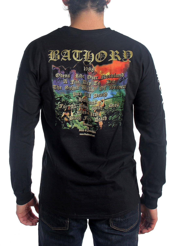 Longsleeve BATHORY hommes Amazon Blood Bathory des Mort Feu de wXATXq4