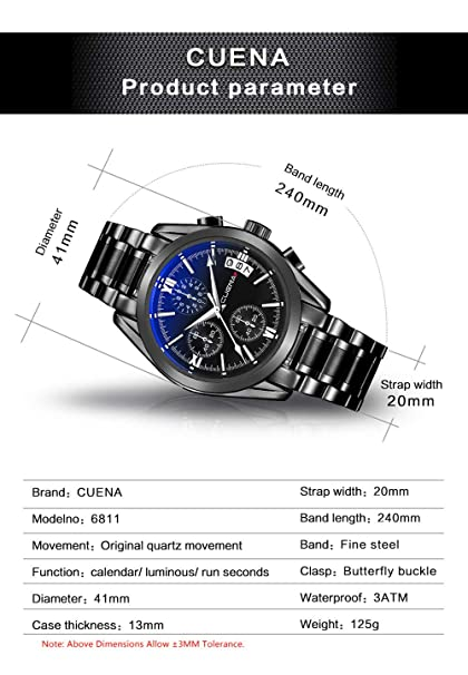 Amazon.com: Luxury Watches for Men DYTA Stainless Steel Case Strap Wrist Watch on Simple Watches White Face Casual Analog Quartz Watches Relojes De Hombre: ...