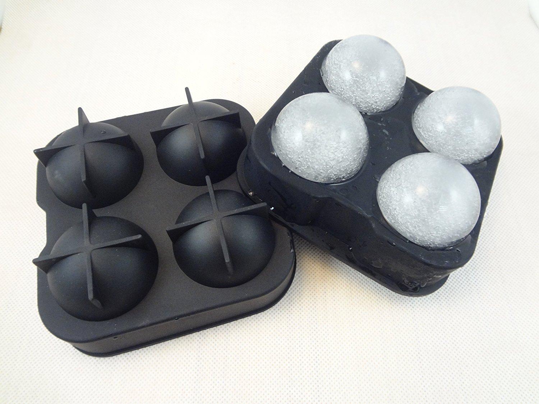 Froz Ice Ball Maker - Molde de silicona para hacer bolas de hielo con capacidad para 4 bolas de 4,5 cm