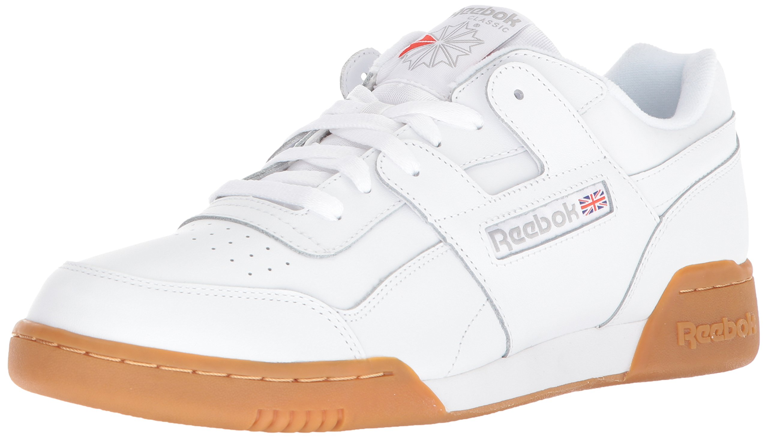 Reebok Men's Workout Plus Cross Trainer, White/Carbon/Classic Red, 10.5 M US by Reebok