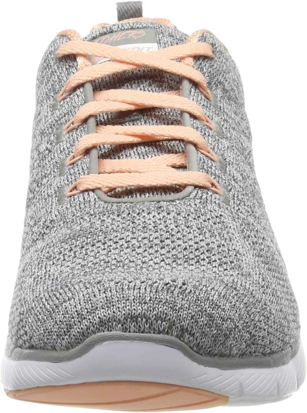 Skechers vrouwen Flex Appeal 3.0-hoge getijden Trainers Grey (Gray Knit Mesh/Coral Trim Gycl)