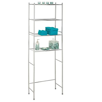 Amazon.com: Honey-Can-Do BTH-05281 4-Tier Metal Bathroom Shelf Space ...