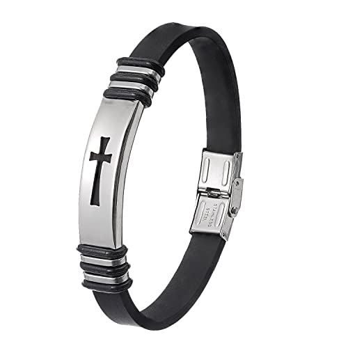 Christian Wristband For Men Premium Stainless Steel Jewelry