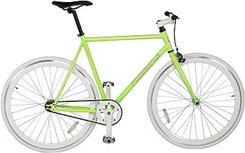 Rocasanto Bike - Bicicleta Fixie v, tamaño 54, Color Verde/Blanco ...