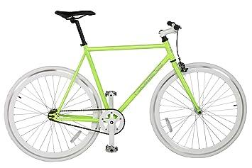 Rocasanto Bike - Bicicleta fixie v, tamaño 54, color verde / blanco: Amazon.es: Deportes y aire libre