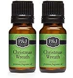 Christmas Wreath Fragrance Oil - Premium Grade Scented Oil - 10ml - 2-Pack