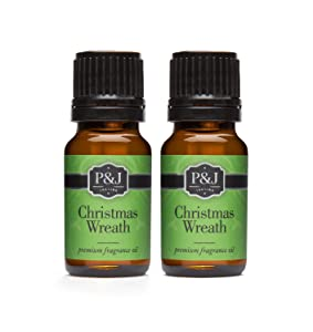 Christmas Wreath Fragrance Oil - Premium Grade Scented Oil - 10ml - 2-Pack