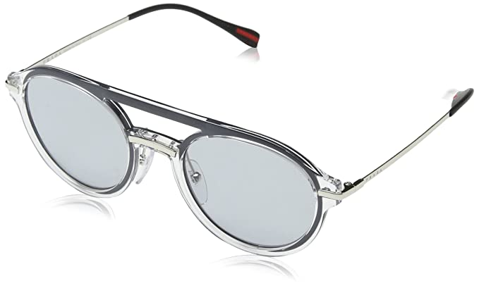 5b844fc2f12 Prada Sport PS05TS 1KP4Q1 Crystal PS05TS Oval Sunglasses Lens Category 1  Size 5