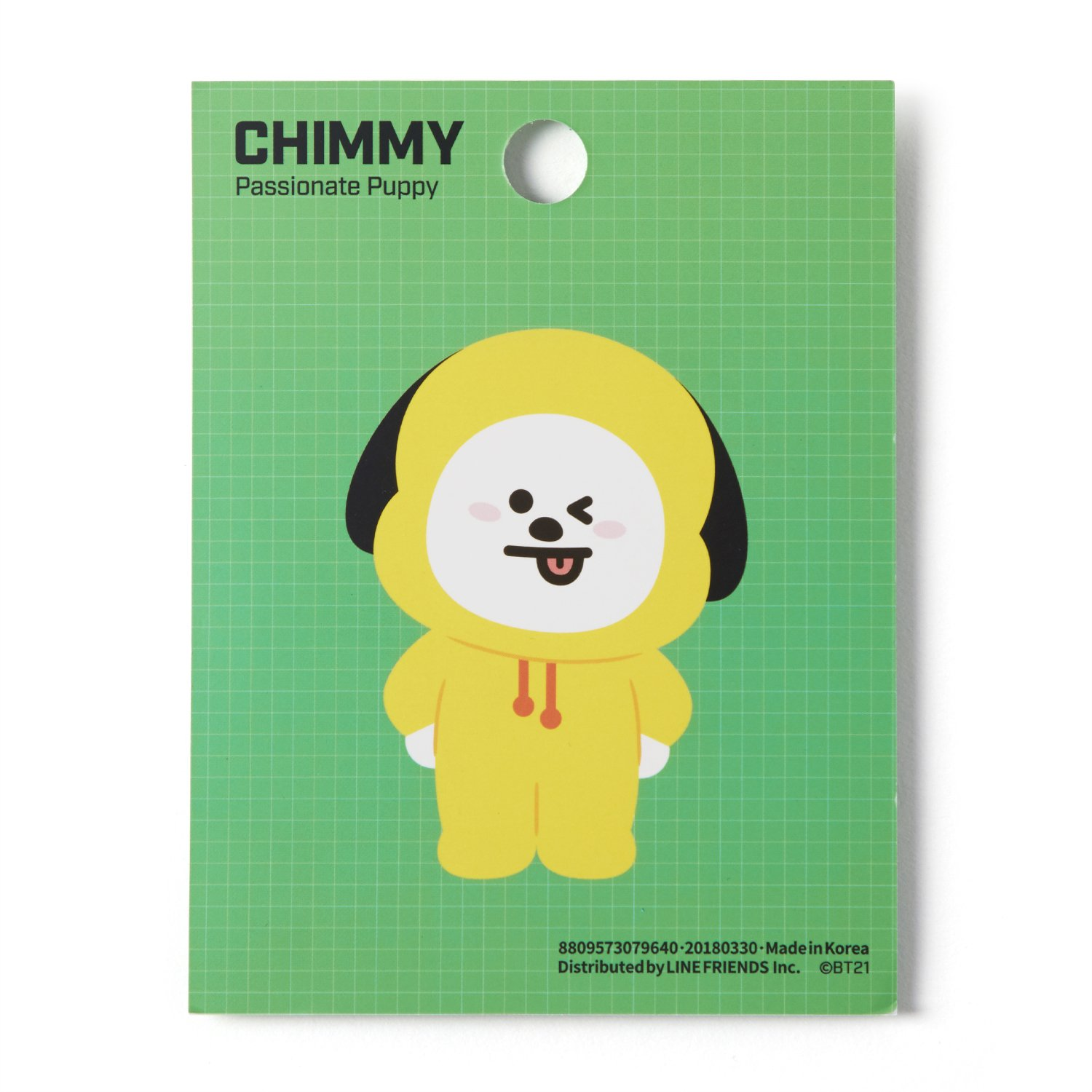 Amazon.com : BT21 Official Merchandise by Line Friends - CHIMMY Character Cute 3pc Office Supplies Set with File Folder, Sticky Note, and Mouse Pad : Office ...