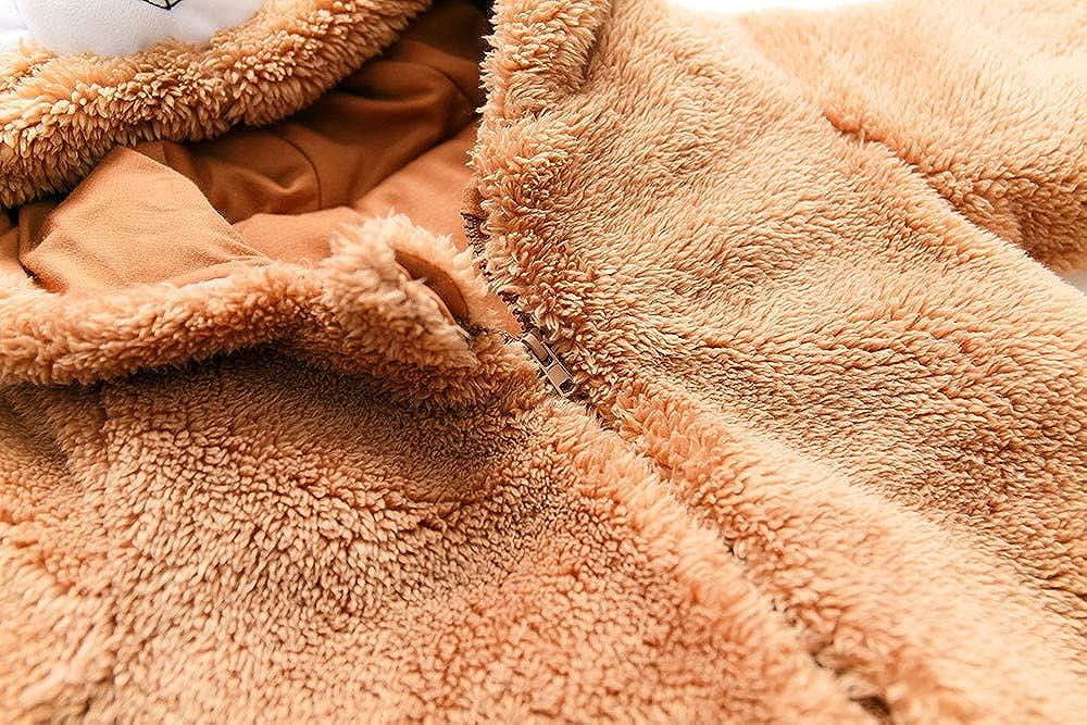 KONFA Toddler Baby Boys Girls Winter Warm Clothes,Cartoon Bear Soft Cotton Rompers Jumpsuit 0-24 Months Kids