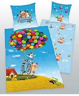 Herding Kinderbettw/äsche Wende Bettw/äsche 100x135 40x60 Baumwolle mit Aufbewahrungsbeutel-Minnie Mouse 890818