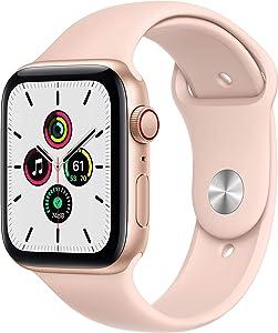 Apple Watch Series SE 44mm Gold Aluminum (GPS+Cellular) - MYEP2LL/A (Renewed)