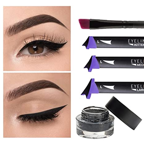 TANEL Winged Eyeliner Pen Vamp Style 5pc Wing Stamp Set Waterproof Smudge Proof Long Lasting Amazoncouk Beauty
