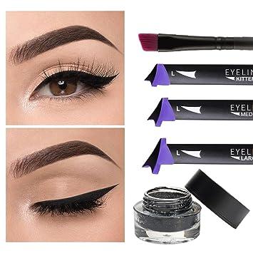 TANEL Winged Eyeliner Pen Vamp Style 5pc Wing Stamp Set Waterproof Smudge