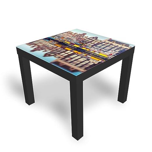 DekoGlas Mesa de Cristal Decorativo IKEA barnizada, Mesa Auxiliar ...