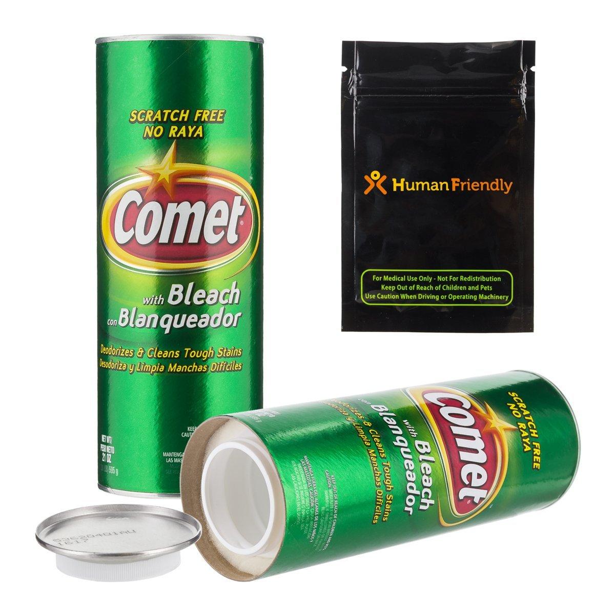Comet Cleaner Diversion Safe Stash Can w HumanFriendly Smell-Proof Bag
