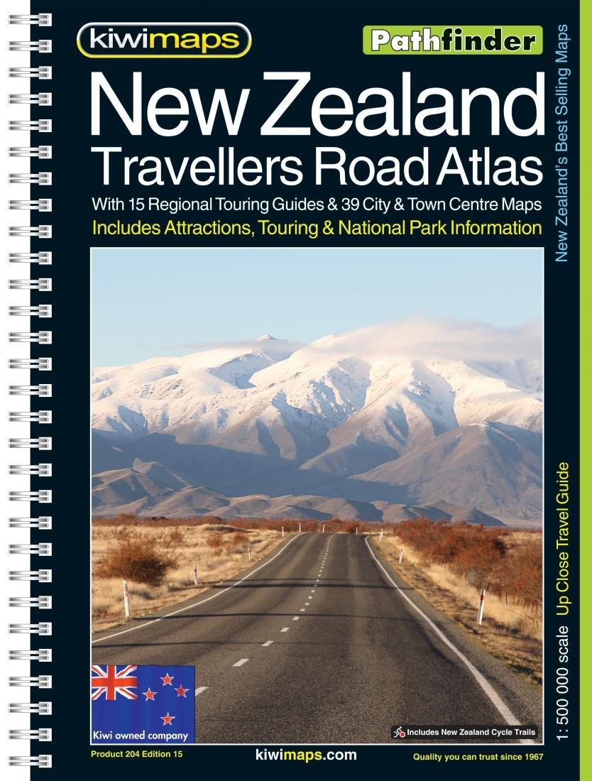 New Zealand Road Map.New Zealand Travellers Road Atlas Kiwi Maps Kiwimaps