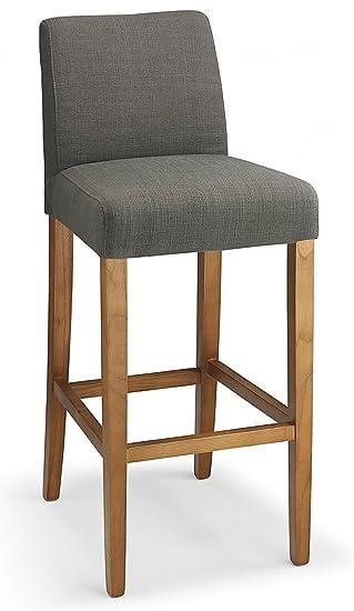 Terrific Firenze Fabric Bar Stool Grey Dailytribune Chair Design For Home Dailytribuneorg