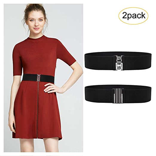 d27af528223 Wide Elastic Belts For Women Dresses Stretch Cinch Belts for Women Ladies  Elastic High Waist Belt