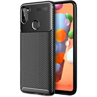 HEYUS for Samsung Galaxy A11 Case, Protective Carbon Fiber Case Cover Compatible with Samsung Galaxy A11 Lightweight…