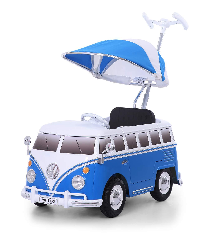 Fino a max Blu Furgoncino VW T1 Per bambini da 1 anno in su Typ 2 ROLLPLAY Macchina a spinta 20 kg