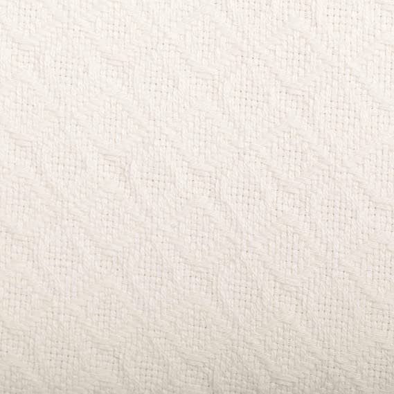108x90 VHC Brands Serenity Blanket King Size Diamond Weave Soft Cozy 100/% Cotton Decorative Throw in Cream Bedding Accessory Cr/ème
