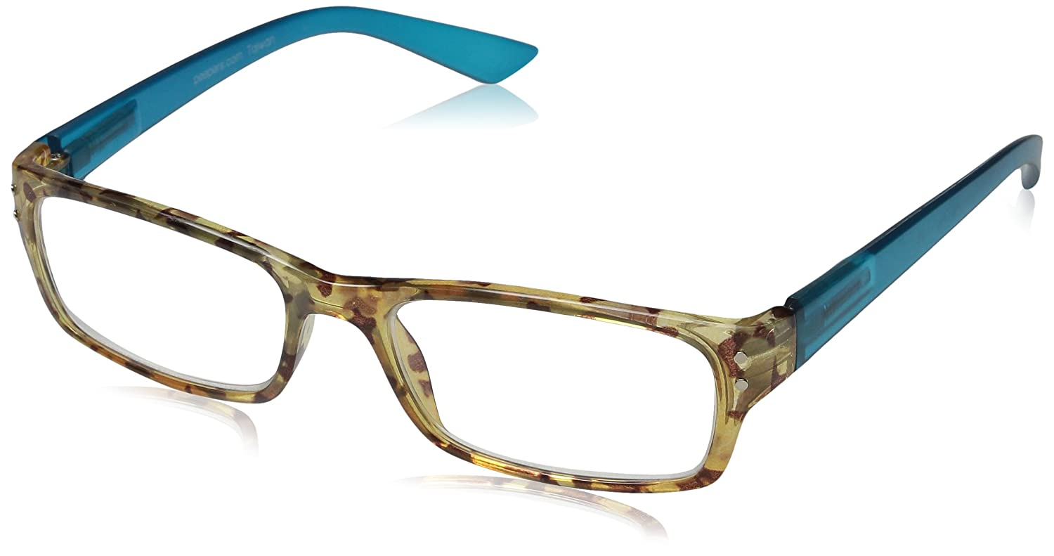 Peepers Mocha Almond Chip Rectangular Reading Glasses Tortoise/Green 1.5 Peepers Reading Glasses 623150