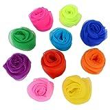 [10 Pieces-10 Colors]Vpsan Juggling Dance Scarves Multicolor Magic Tricks Rhythm Band Scarves