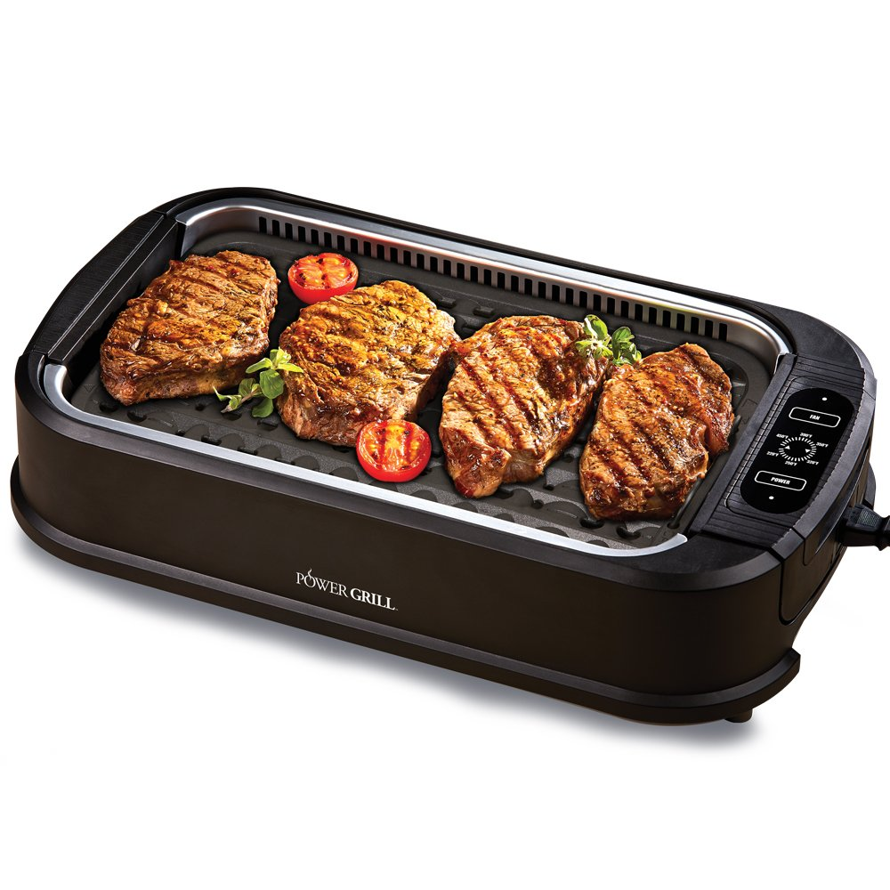 Power Smokeless Grill Indoor Electric Grill with Lid < All Pans ...