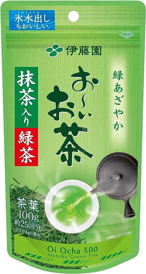伊藤園 おーいお茶 抹茶入り緑茶 100g