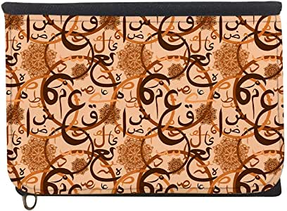 Arabic letters Printed Case Wallet,  jeans