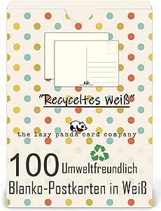 Juego de 50 o 100 postales en blanco para diseñar, escribir o para ...