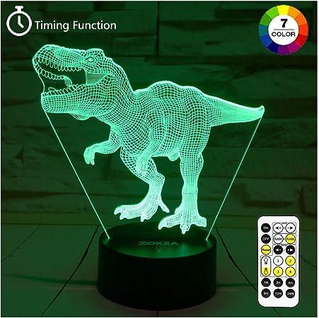 Amazon.com: ZOKEA Juguetes de dinosaurio, luces nocturnas T ...