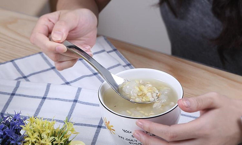 Passe au Lave-Vaisselle Yaourt Cuill/ère Cuill/ère /à C/ér/éales Bols /à soupe cuill/ère perfectii Lot de 2/cuill/ères en inox