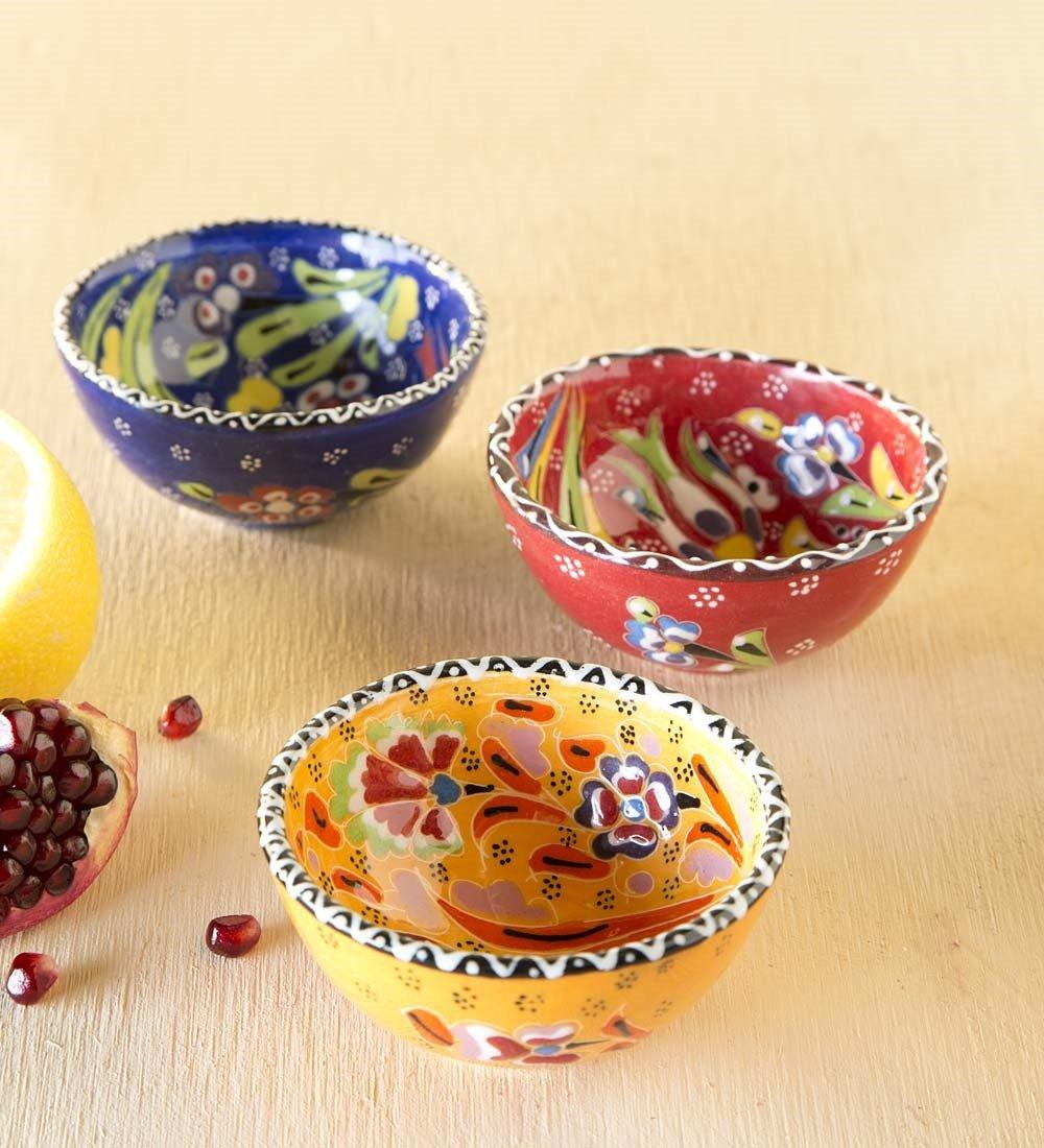 Handcrafted Turkish Finger Bowls, Set of 3