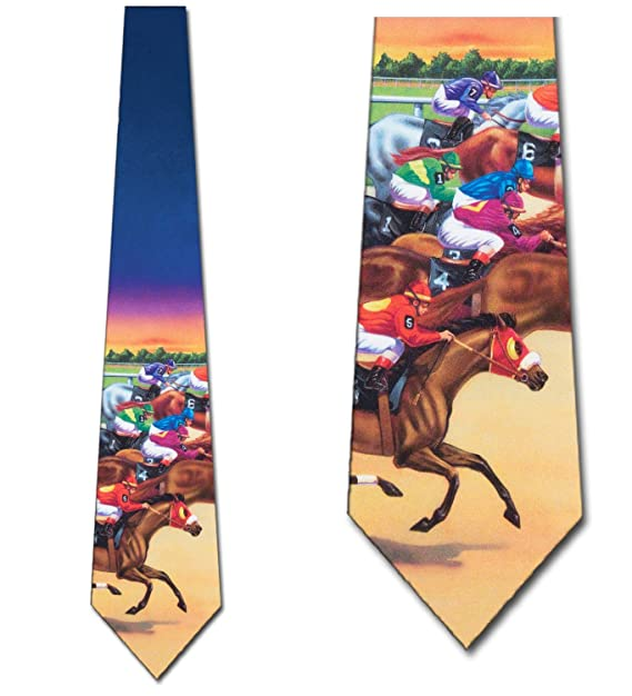 797d7dc6e2f6 Image Unavailable. Image not available for. Color: Horse Racing tie Mens  Necktie by Three Rooker
